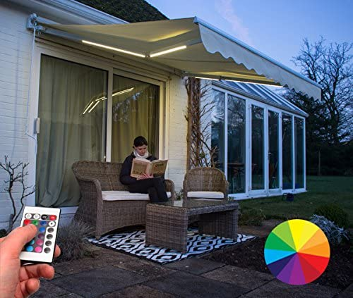 Kit de luz LED que cambia de color para Toldo.: Amazon.es: Jardín