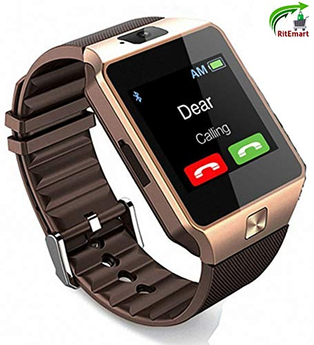RitEmart RitFit DZ09 Smart Watch Fully Touch Screen Spy Camera Bluetooth Compatible to Android & iOS Smartphones (DZ09_RB) Price & Reviews