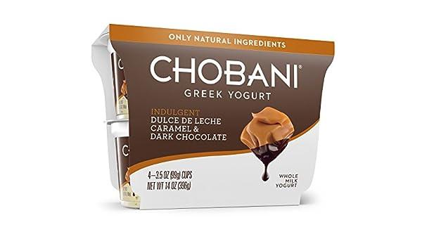 Indulgent Chobani Indulgent Dulce De Leche caramel & Dark chocolate, 14 oz: Amazon.com: Grocery & Gourmet Food
