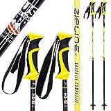 Ski Poles Carbon Composite Graphite - Zipline Lollipop U.S. Ski Team Official Ski Pole - Choose Color and Size (Pineapple, 50 in. / 127 cm)