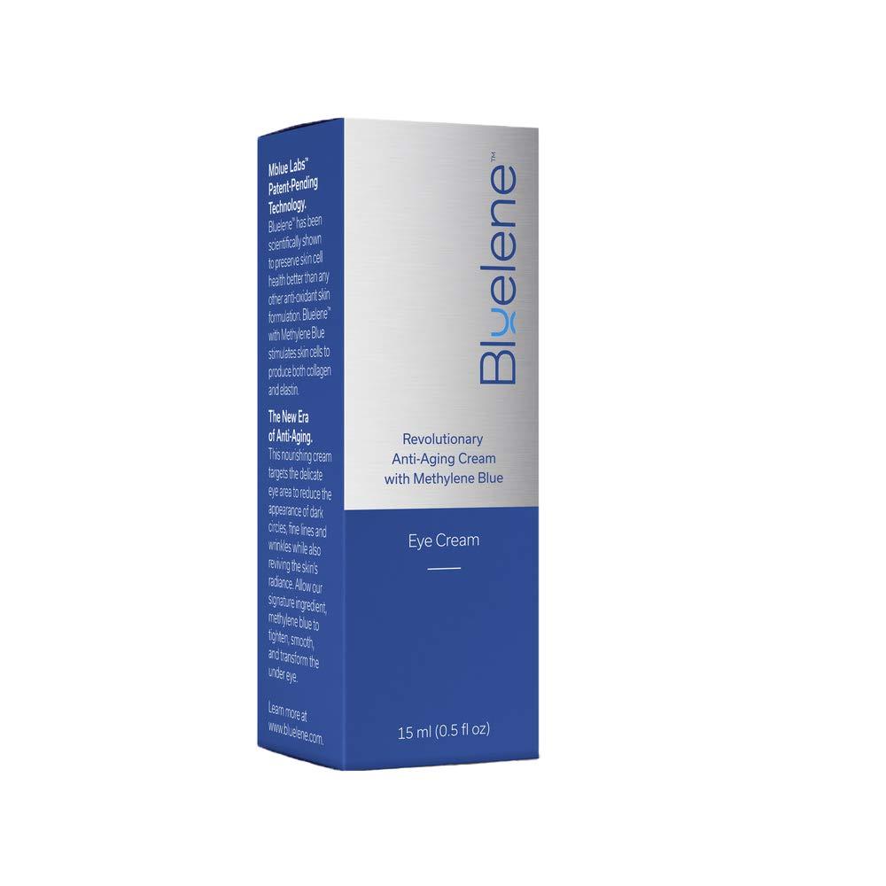 Anti Aging Eye Cream, Bluelene. Revolutionary Eye Cream Moisturizer with Methylene Blue for Wrinkles (15 ml)