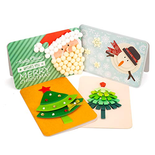 DIY Christmas Crafts Greeting Card-Funny 3D Gift Card Making Kit-for Kids Boys Girls