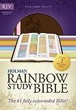 KJV Rainbow Study Bible, Pink/Brown LeatherTouch