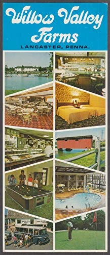 Willow Valley Farms Motor Inn & Restaurant Lancaster PA long postcard 1970s