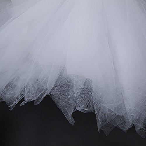 Bouffe Elastique Bulles Vintage Robe Femme Tutu Princesse Genou Ballet Blanc PlissJupe au Pettiskirt ZeWoo qvawUxC