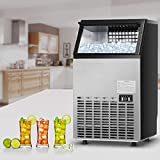 Costzon Commercial Ice Maker, Built-In Stainless