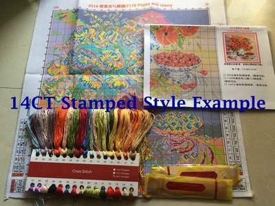 Joy Sunday Cross Stitch Kits,Animal Style,Three Birds 4,14CT Stamped 25cm/×14cm or 9.75/×5.46