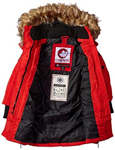 cw055 Available red Stadium Girls' Gear More Canada Styles Hooded Jacket Toddler Weather Outerwear 8Pxv71