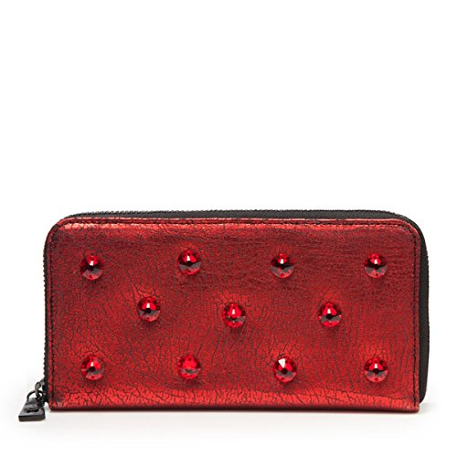 Eric Javits Luxury Fashion Designer Women's Handbag - Zip Wallet - Siam by Eric Javits