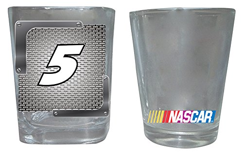 Kasey Kahne #5 Shot Glasses- Set of 2 One Square One Round - Kasey Kahne Pieces