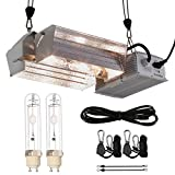 BloomGrow Hydroponic CMH 630W 120/240V Grow Light Fixture 120V Plug w/3100K Full Light Spectrum CMH Bulb Replace LED Digital Ballast for Plant Growing (630W CMH Open Kit 3100K)