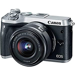 Canon EOS M6 Mirrorless Digital Camera with 15-45mm Lens (Silver) Advanced Bundle – International Model