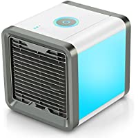 Winique Personal Space Cooler, 3 in 1 Air Conditioner, Humidifier, Purifier, 7 Colors Nightstand and 3 Speed Modes Personal Evaporative Cooling Fan for Home, Office and Travel
