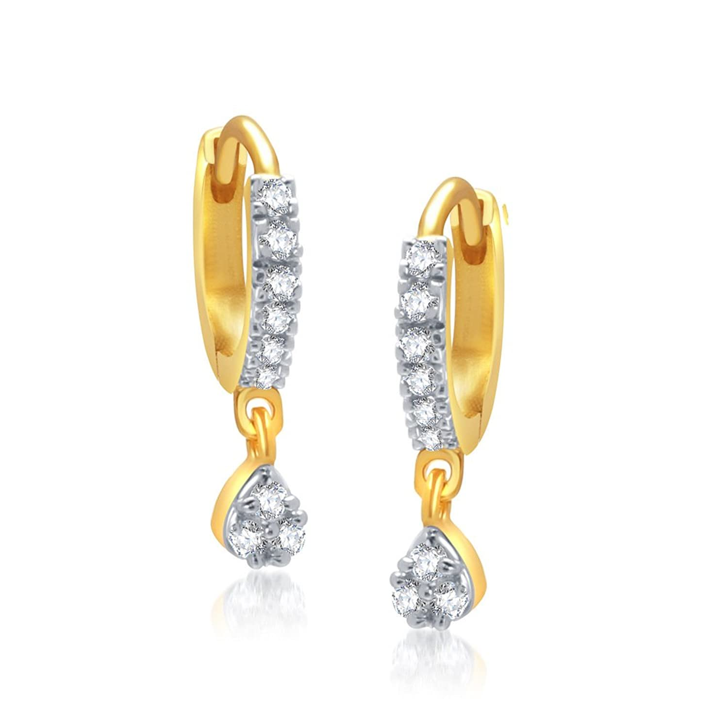 VK Jewels Gold And Rhodium Plated Alloy Bali Clip on Earrings for ...