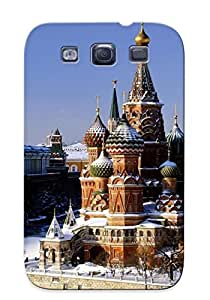 New Red Square Tpu Case Cover, Anti-scratch Eatcooment Phone Case For Galaxy S3