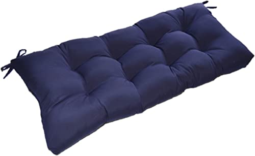 Solid Navy Blue Tufted Cushion