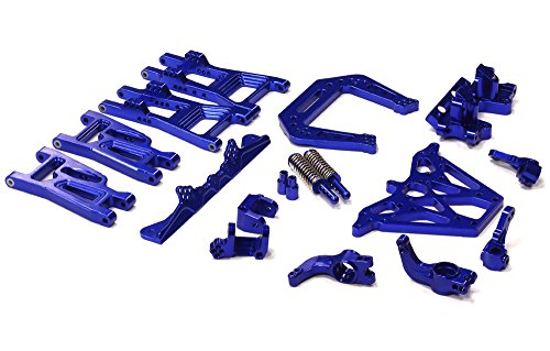 Nitro Rustler Accessories - Integy RC Model Hop-ups T6740BLUE Alloy Conversion Kit for Traxxas Nitro Rustler