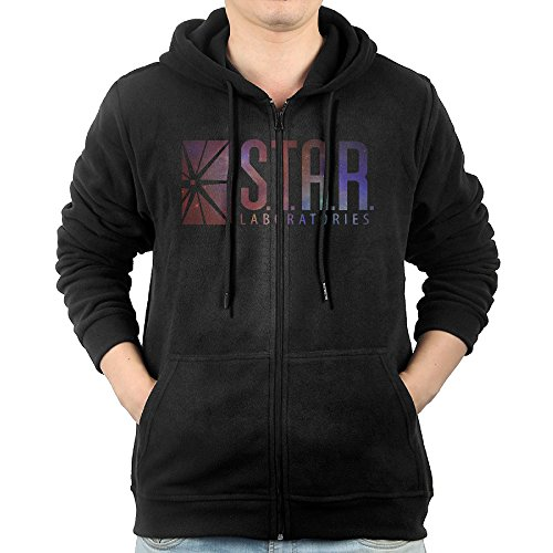 (Star Labs Mens Zipper Pullover 90s Best Hoodie)