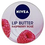 NIVEA Lip Butter 19 ml - Raspberry Rose, Pack of 6