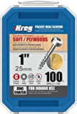 "Kreg SPS-C1-100 Pocket Screws, 1"" #7"