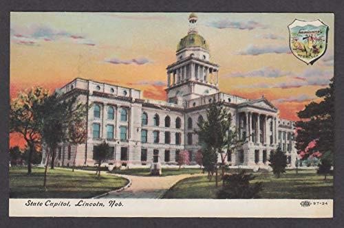 (State Capitol Lincoln NE postcard)