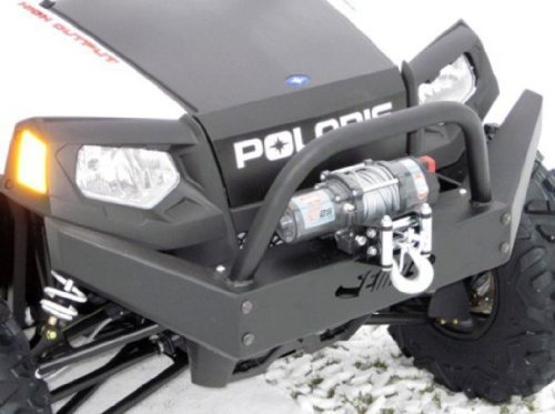 Extreme Metal Products Polaris RZR, RZR-S and RZR-4 (2008-2011) Front Bumper with Winch Mount. 10436-BL (Rzr Winch Bumper)