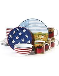 Gibson America the Beautiful 16 Piece Dinnerware Set