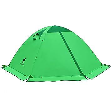 GEERTOP Tienda de campaña iglú ligera impermeable UV resistente 2 Personas 4 estaciones para Excursiones, Senderismo Travesía y salidas al Aire Libre ...