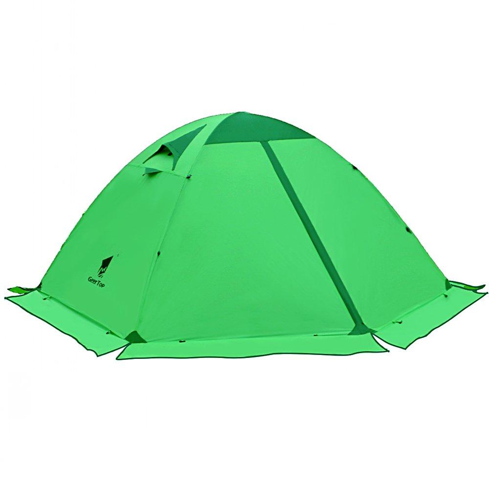 GEERTOP Tienda de campaña iglú Ligera Impermeable UV Resistente 2 Personas 4 Estaciones para Excursiones,