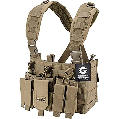 Loaded Gear BI12792 VX-400 Tactical Chest Ring, Dark Earth