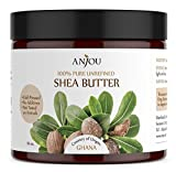 Shea Butter, African, Raw, Unrefined (16 oz, Cold-pressed, Moisturizing, DIY for Whipped Body Butter, Facial Lotion and Cream, Lip Balm, Shampoo, Soap) - Anjou