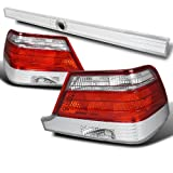 Spec-D Tuning LT-BW14094RPW-RS Mercedes Benz S-Class W140 Red/Clear Tail Lights