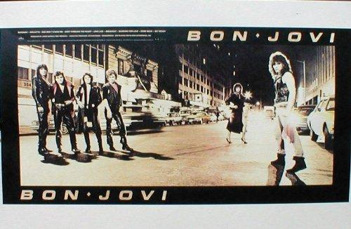 John Bon Jovi Retro Art Print   Poster Size   Print Of Retro Concert Poster   Features Jon Bon Jovi  David Bryan Tico Torres  Hugh Mcdonald And Richie Sambora