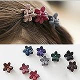 Pixnor 10pcs frange cheveux Mini griffe Clip cheveux broche fleur pour fille Mix couleur