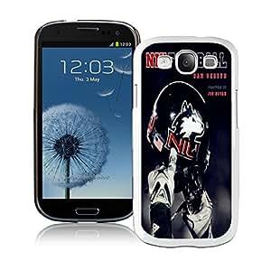 Northern Illinois Huskies 01 White Hard Plastic Samsung Galaxy S3 I9300 Phone Cover Case