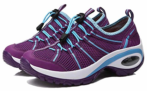 Slip Womens On GFONE High Rise Casual Anti Breathable Walking Lightweight Purple1 Athletic Air Shoes Slip Mesh Outdoor Hiking Sneakers qXw1dgwB