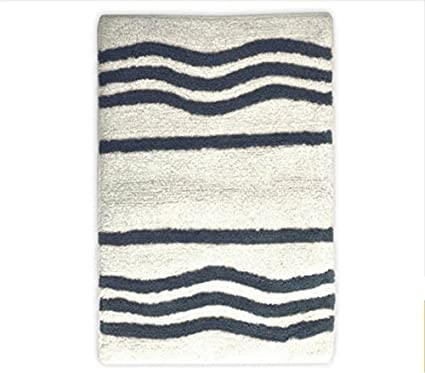 056928f96867 Amazon.com: Mainstays Striped Bath Rug Soft Cotton Machine Washable ...