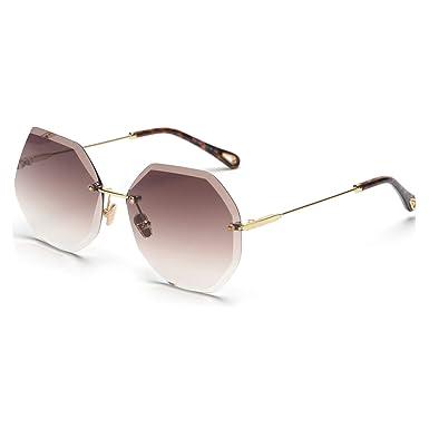 Amazon.com: Gafas de sol para mujer, estilo sin marco, color ...