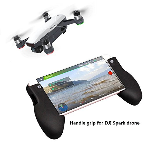 Price comparison product image DJI Spark Handle Grip for DJI Spark Drone Fits iPhone 6 / 7 Series,  iPad mini Series, Android Smartphone and so on (As Shown,  Handle Grip)