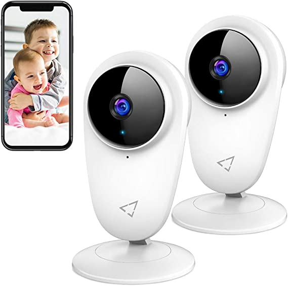 Victure 2pcs 1080P Smart Home Camera 2.4G WiFi Indoor Camera Video Baby Monitor Pet Security Camera with Night Vision 2-Way Audio Motion Detection for Home/Office/Baby/Nanny/Pet