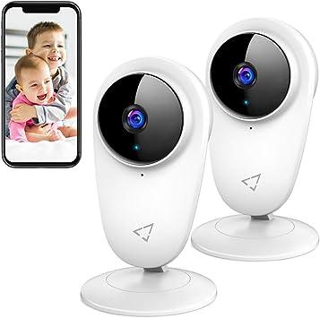 1080P Baby Monitor, Victure Kamera 2,4 G WiFi Innenraum, IP Kamera für Kinder und Haustiere, Nachtsicht und Bewegungserkennung mit bidirektionalem