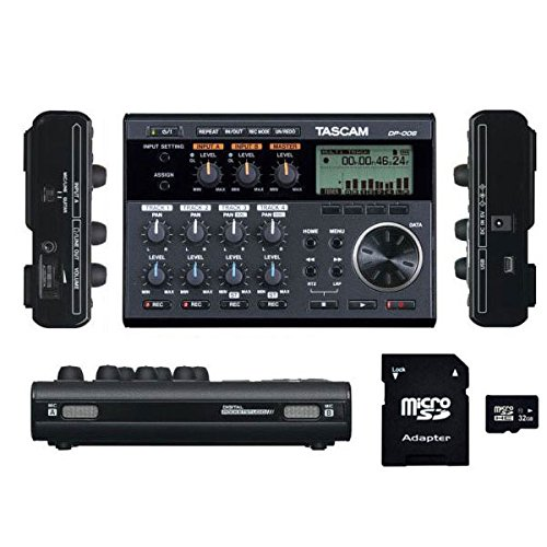 Tascam DP-006 6-Track Digital Multitrack Recorder with EV MUSIC 32gb SD Card