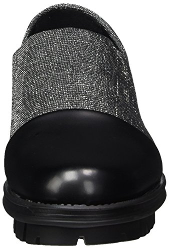 NR RAPISARDI Damen R1701 Mokassin Silber (Pewter Galaxy/Black BOSTON)