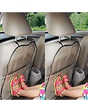 F.anlos Car Seat Back Protector Cover For Children, Kick Mats, Waterproof and Stain Resistant Seat Protectors, Transparent, 2pcs