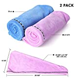 2 Pack Hair Towel Wrap Turban Microfiber Drying