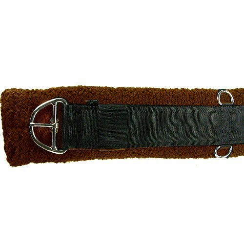 Western Saddle Girth - Intrepid International Western Fleece Cinch Girth, Brown, 34-Inch