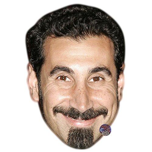 Serj Tankian Celebrity Mask, Card Face and Fancy Dress Mask