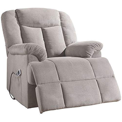 ixia tufted recliner light gray