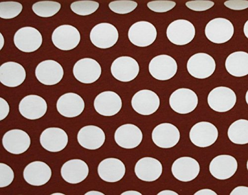 (Knit Caffe Brown Dots Design Fabric by the Yard, 95% Cotton, 5% Lycra, 60 Inches Wide, gorgeous knit, great quality, extra stretchy and soft, 4 way stretch (2)