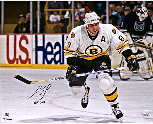 "Cam Neely Boston Bruins Autographed 16"" x 20"" White Jersey Skating Photograph with HOF 2005 Inscription - Fanatics Authentic Certified"